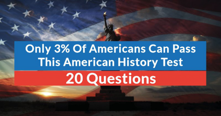 Only 3% Of Americans Can Pass This American History Test