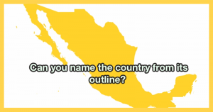 Can you name the country from its outline?