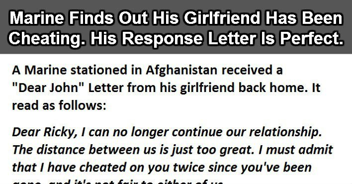 Marine Finds Out His Girlfriend Has Been Cheating His