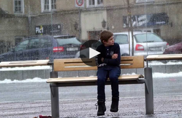 A Boy, Alone In a Freezing Weather, Without A Jacket On. Watch People's Reaction.